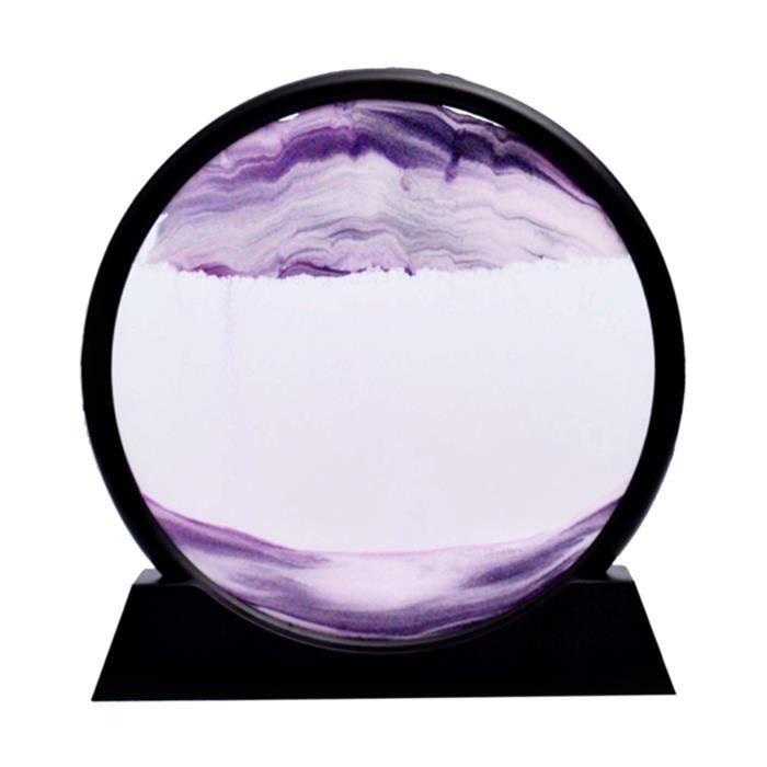 Sables mouvants Image, verre Qui Coule Sable Quicksand Peinture Sables Mouvants Art Sable-paysages en Mouvement de Bureau Art Violet