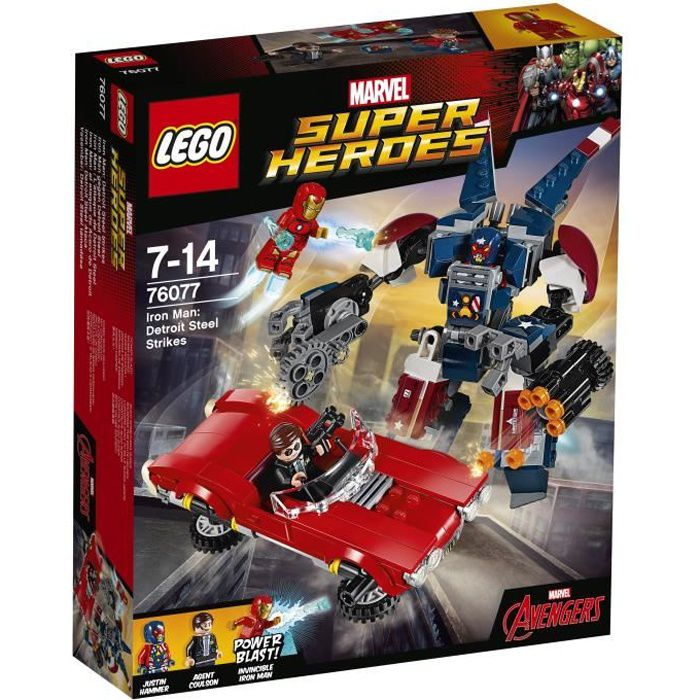 LEGO® Marvel Super Heroes 76077 Iron-Man : l'Attaque de Detroit Steel - Jeu de construction
