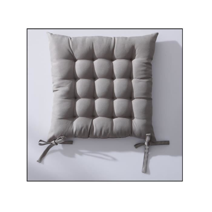 Galette de chaise 40x40 cm matelassé mastic