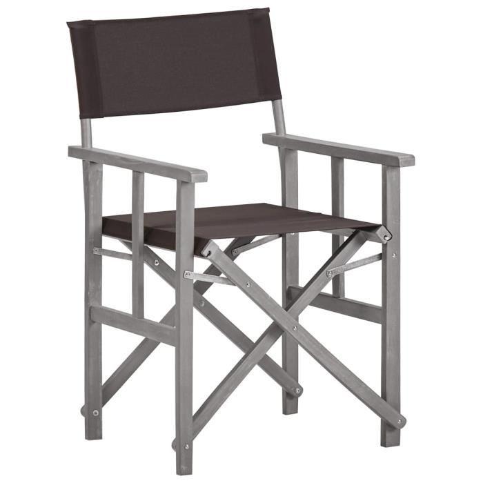 Chaise de metteur en scène - Bois massif d'acacia