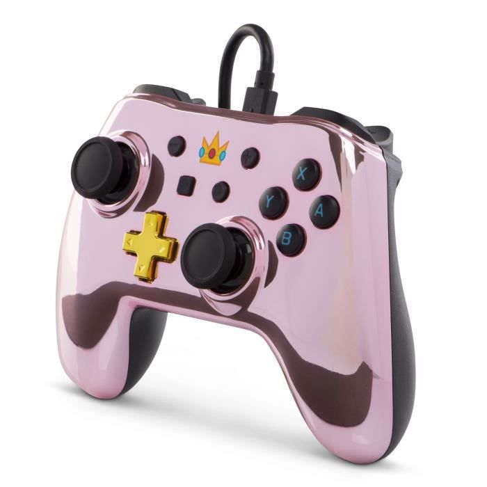 POWER A Manette filaire Nintendo Switch chrome Peach