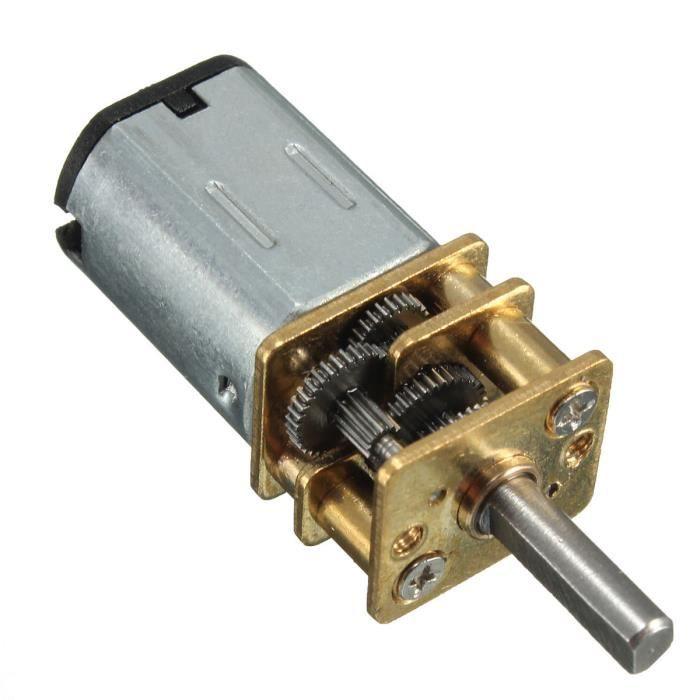 N20 Modele 6V 30rpm DC moteur a engrenages Mini metal avec un diametre d'arbre de roue dentee 3 mm