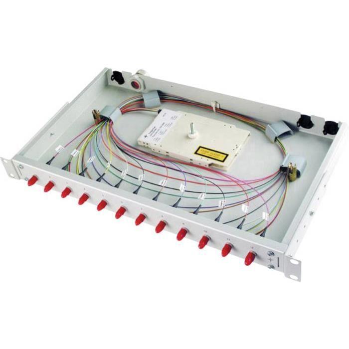 Panneau de brassage fibre optique LC Telegärtner H02030G0492 1 UH 1 pc(s) - ACCESSOIRE COFFRET DE COMMUNICATION - CONNECTEUR RJ45 -