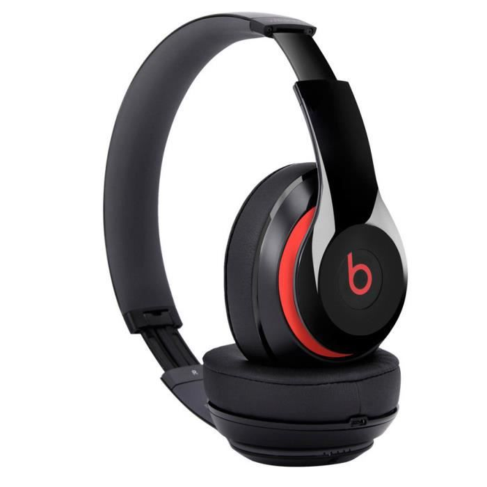 noir et rouge casque headphones beats studio 2 0 sans fil. Black Bedroom Furniture Sets. Home Design Ideas