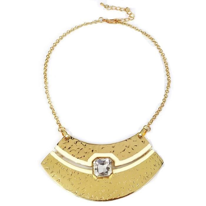 Womens Light Gold Metal Necklace ForBW50D