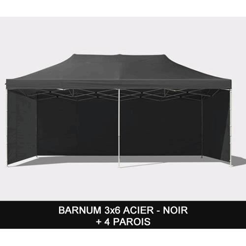 barnum pliant 3x6m acier noir parois achat vente. Black Bedroom Furniture Sets. Home Design Ideas