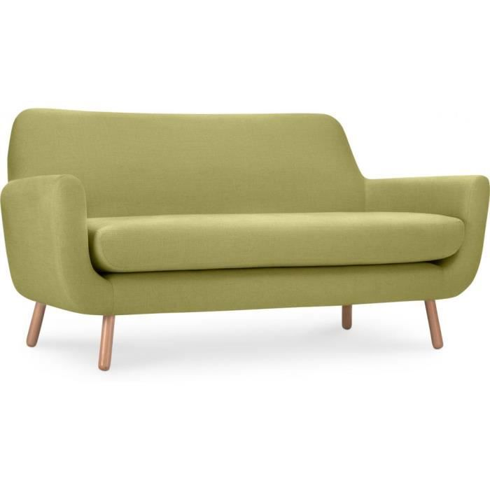 canap jonaasah design scandinave 2 places tissu vert achat vente canap sofa divan. Black Bedroom Furniture Sets. Home Design Ideas