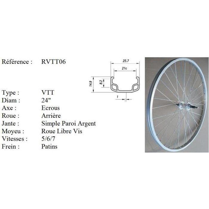Axe de roue jante vélo vtt moyeu avant arrière cassette 8 9 10 mm course vintage