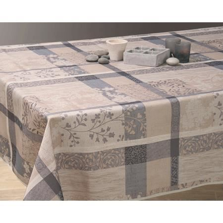 nappe anti tache 150 x 240 cm jacquard taupe achat vente nappe de table cdiscount. Black Bedroom Furniture Sets. Home Design Ideas