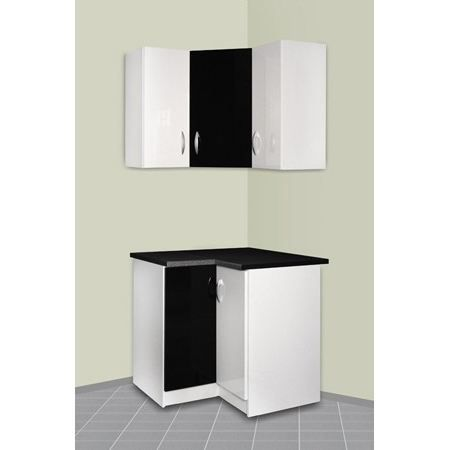 meuble cuisine d 39 angle haut et bas oxane achat vente finition plinthe meuble cuisine d. Black Bedroom Furniture Sets. Home Design Ideas