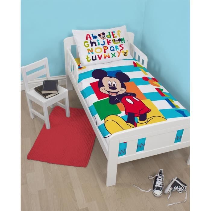 parure de lit junior mickey mouse boo disney achat vente parure de couette cdiscount. Black Bedroom Furniture Sets. Home Design Ideas