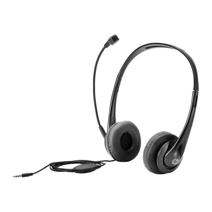 CASQUE - ÉCOUTEURS HP Casque sur-oreille black jack pour EliteBook; P