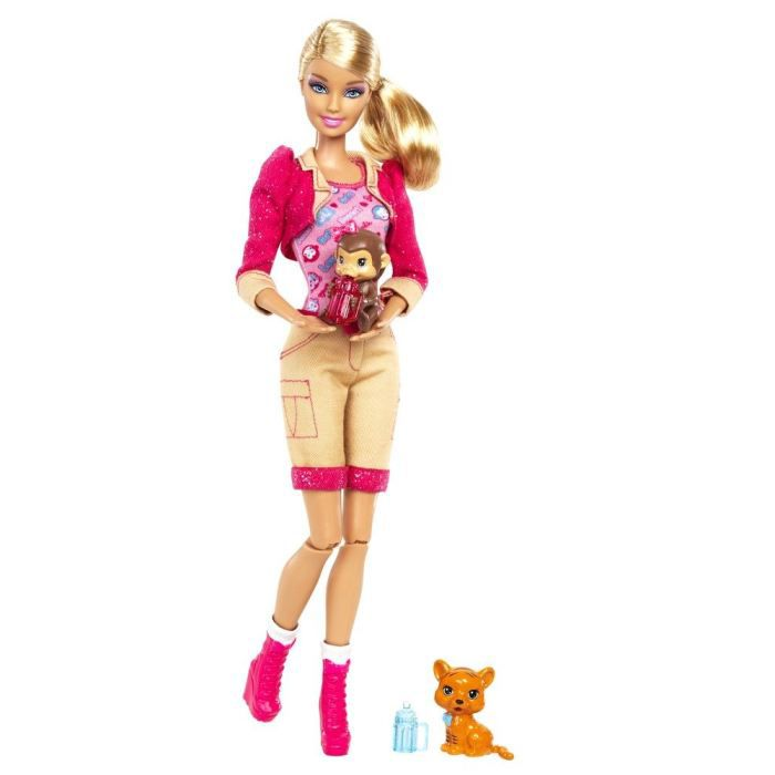 Barbie v t rinaire de zoo achat vente poupon cdiscount - Barbie veterinaire ...
