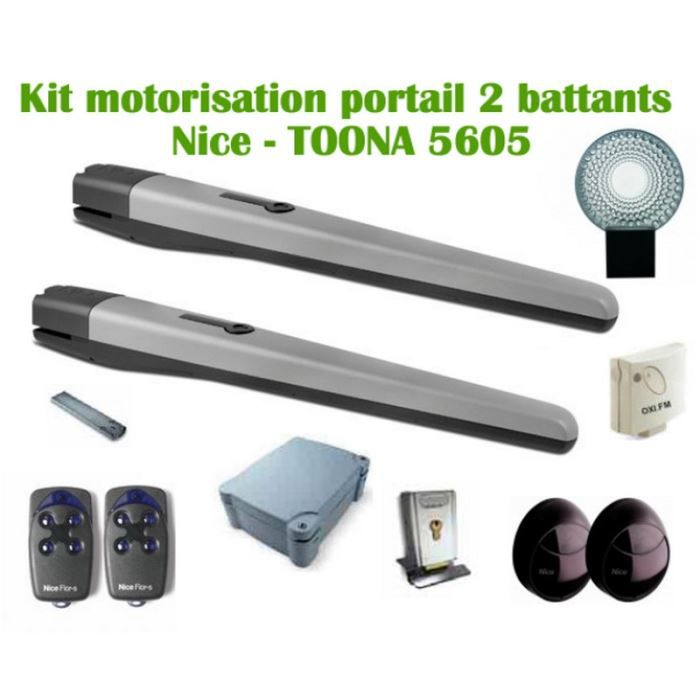 motorisation portail battant nice toona kit achat. Black Bedroom Furniture Sets. Home Design Ideas