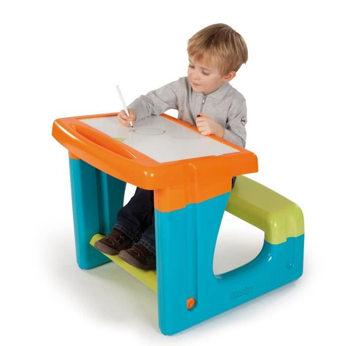 smoby bureau enfant petit ecolier bleu achat vente table jouet d 39 activit cdiscount. Black Bedroom Furniture Sets. Home Design Ideas