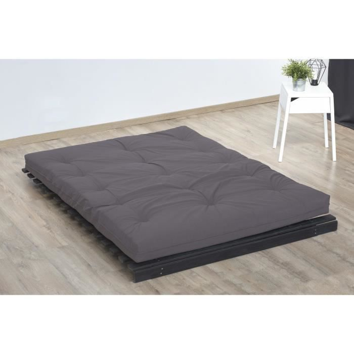 matelas futon taupe en coton 90x190 achat vente futon cdiscount. Black Bedroom Furniture Sets. Home Design Ideas