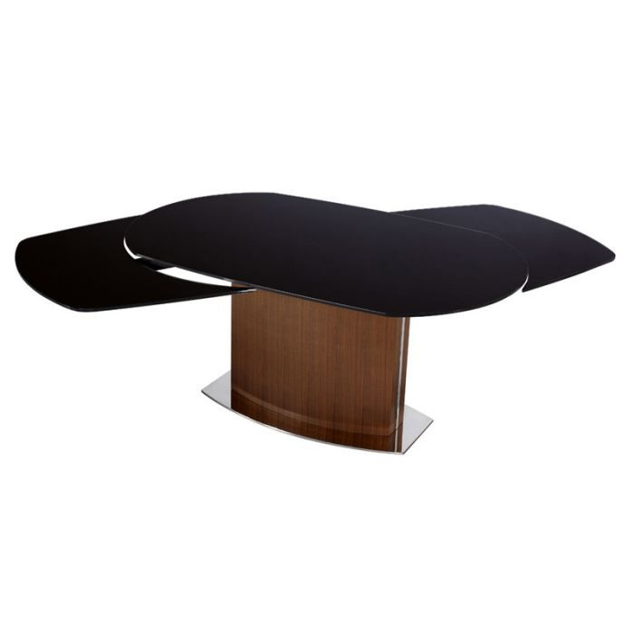 table ovale avec rallonge integree. Black Bedroom Furniture Sets. Home Design Ideas