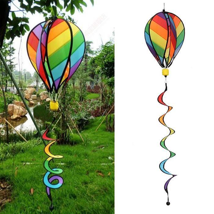Spirale moulin arc-en-ciel à vent jardin parc tente ballon à ...