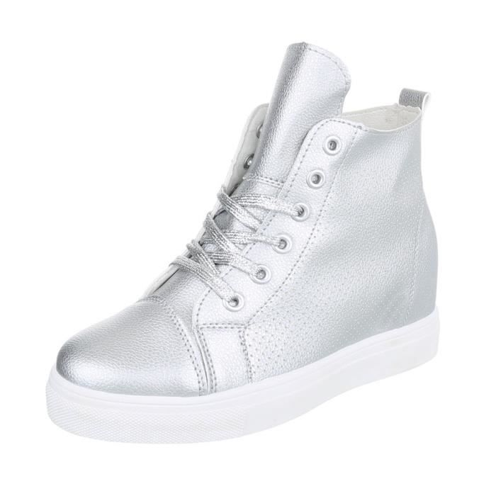 Chaussures femme chaussures sportsemelle compenséeSneakers argent 41