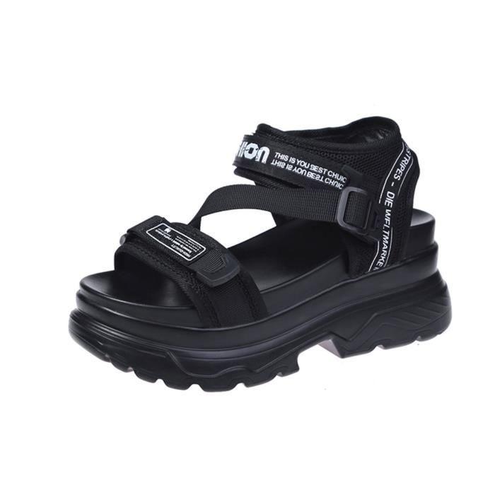 Été Femmes Femmes Lettre bout ouvert neutre plat avec des sandales de plage Chaussures de sport paontry 11524