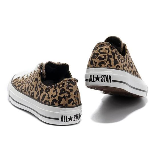 Mixte Converse All Star Chunk Taylor basse toile leopard ...