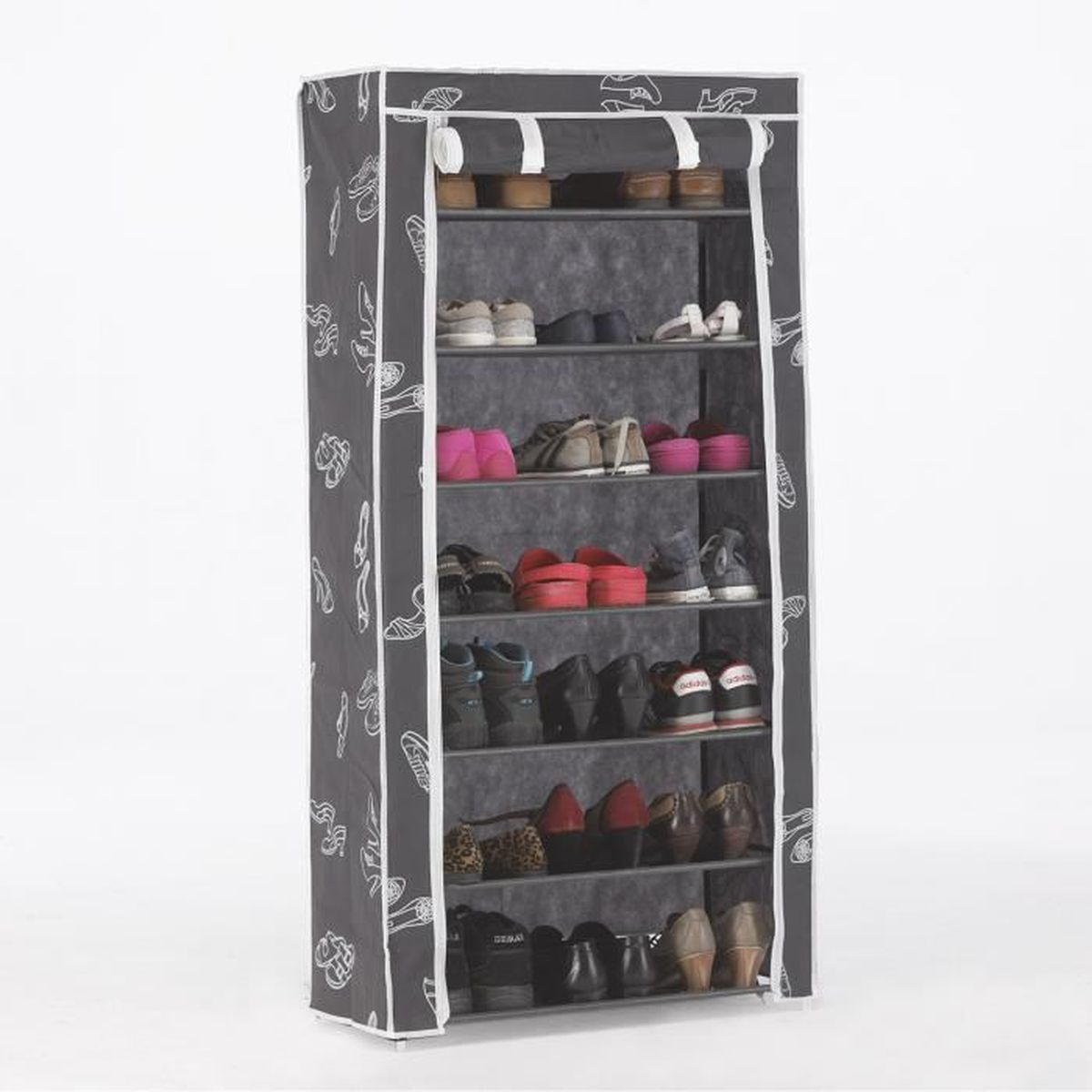 kit closet 4090042007 placard chaussures 7 rayons. Black Bedroom Furniture Sets. Home Design Ideas