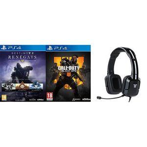 JEU PS4 Call of Duty Black Ops 4 + Destiny 2 Renégats +  C