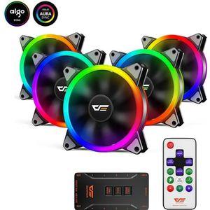 VENTILATION  Aigo DR12 LED RGB 120 mm Ventilateur de Refroidiss