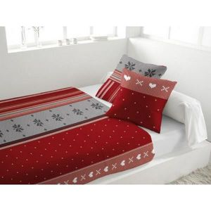 parure de lit rouge achat vente parure de lit rouge pas cher cdiscount. Black Bedroom Furniture Sets. Home Design Ideas