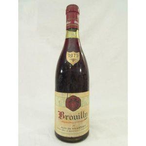 VIN ROUGE brouilly jean de villedieu rouge 1975 - beaujolais