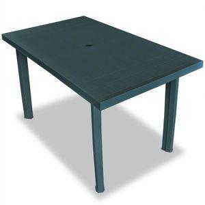 Table de jardin rectangulaire Sorrento en resine - 6 places ...