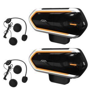 INTERCOM MOTO 2 Pcs Intercom Moto Bluetooth, QTBE6 Kit Oreillett