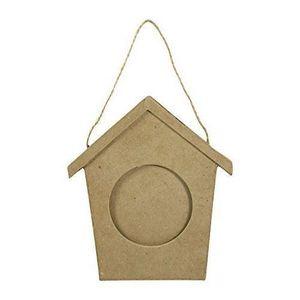 Support à décorer Decopatch Cadre en Papier mâché en forme de maison