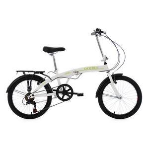 VÉLO PLIANT Vélo pliable 20'' Cityfold blanc TC 27 cm KS Cycli
