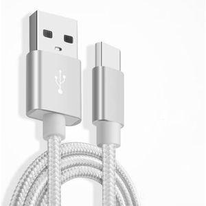 CÂBLE TÉLÉPHONE Câble Metal Nylon Renforcé Chargeur USB/Type C 1,5