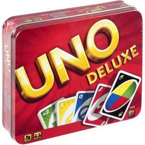 CARTES DE JEU UNO DELUXE Jeu de cartes - 2 à 10 joueurs - 7 ans