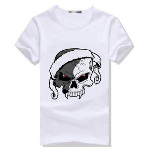 T-SHIRT Tee Shirt Homme TeTe De Mort t-shirt moulant homme
