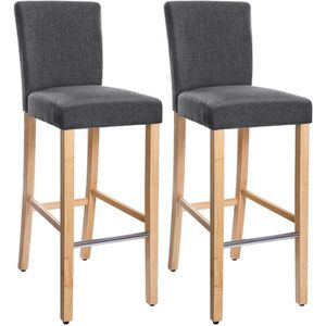 TABOURET DE BAR SONGMICS Lot de 2 Tabourets de bar Pieds en bois m