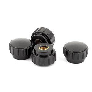 Plastique Tête Bouton De Serrage Jig M5x18mm Filetage Femelle 10Pcs Noir