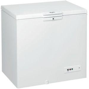 CONGÉLATEUR COFFRE Congélateur coffre posable Whirlpool blanc - WHM31