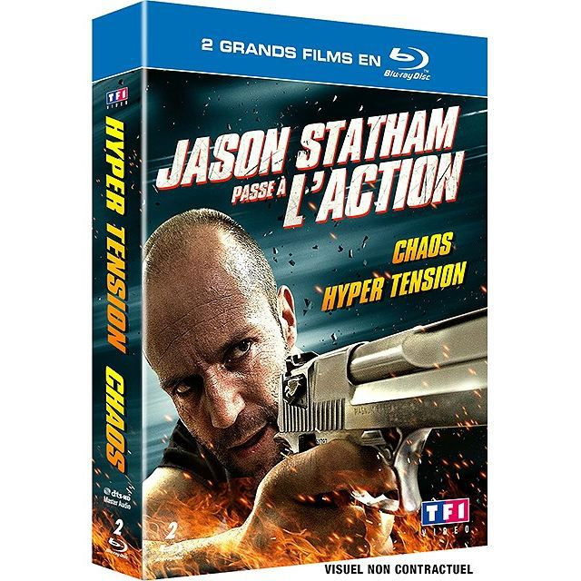 Jason Statham passe à l'action - Coffret - Hyper tension + Chaos (DVD Blu-ray)