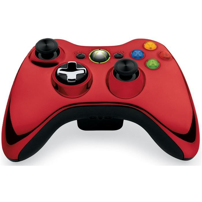 manette sans fil chrome red xbox 360 achat vente manette console manette sans fil chrome. Black Bedroom Furniture Sets. Home Design Ideas