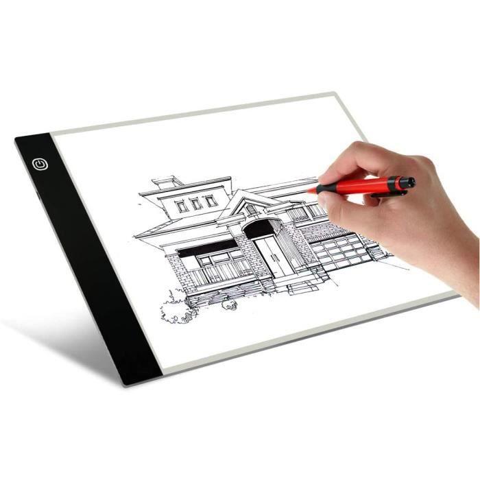 A4 USB LED bo?te à lumière artiste tatouage pochoir conseil tra?age planche à dessin Pad Table