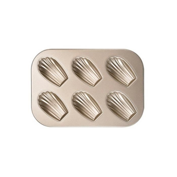 Mini moule à gâteau Madeleine, moule à biscuits ovale antiadhésif à 6 cavités_per1318