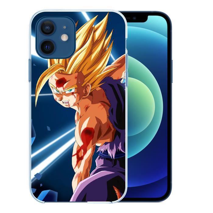 Coque pour iPhone 12 - Dragon Ball Gohan Kameha. Accessoire telephone