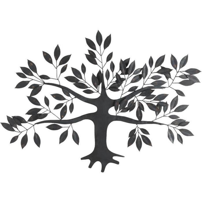 Décoration murale arbre en métal.