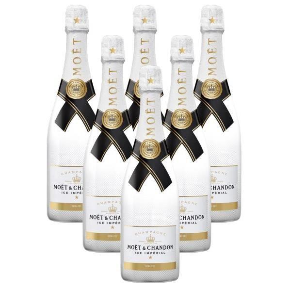 Lot de 6 Champagnes Moët & Chandon Ice Impérial 75cL