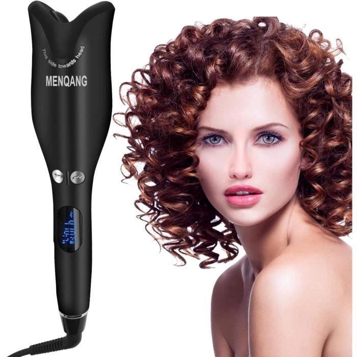 Fers à boucler Fer a Friser les Cheveux, électrique Fer a Boucler Automatique Vapeur avec Affichage Numérique à LED Form 68016