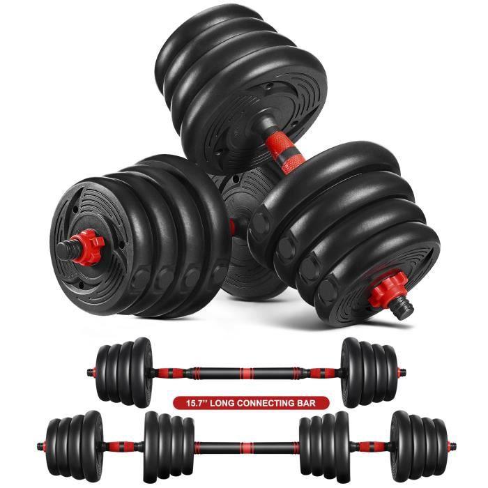 Haltères poids 30KG- Noir - musculation Réglable