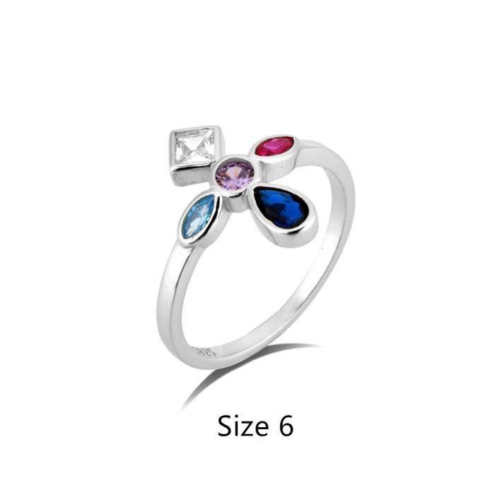 ensemble de boucles d'oreilles en forme de croix arc en ciel pour femmes, ensemble de bijoux de Piercing en argent S*SD0826
